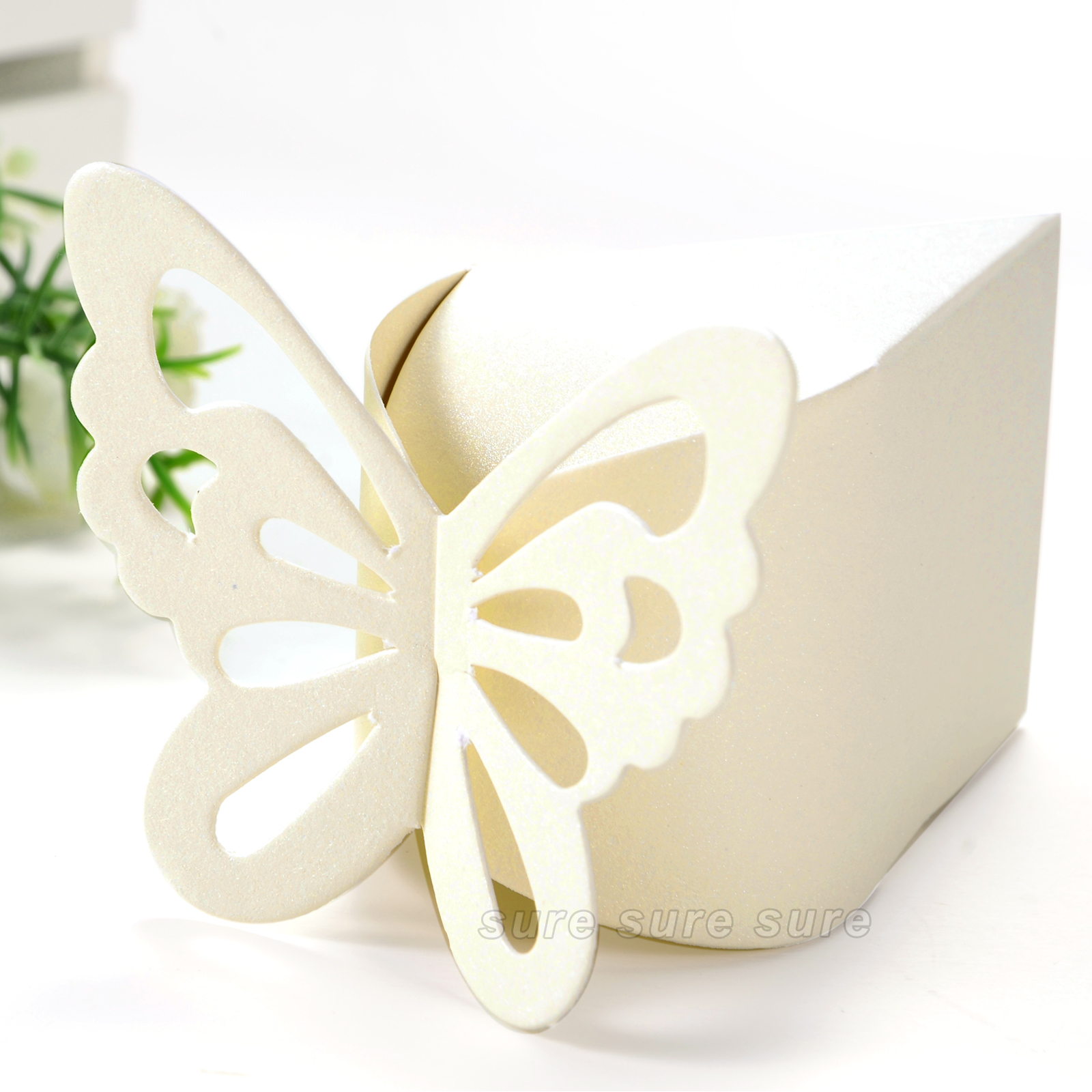 50 pcs Butterfly Party Wedding Favor Gift Candy Bomboniere Boxes ...