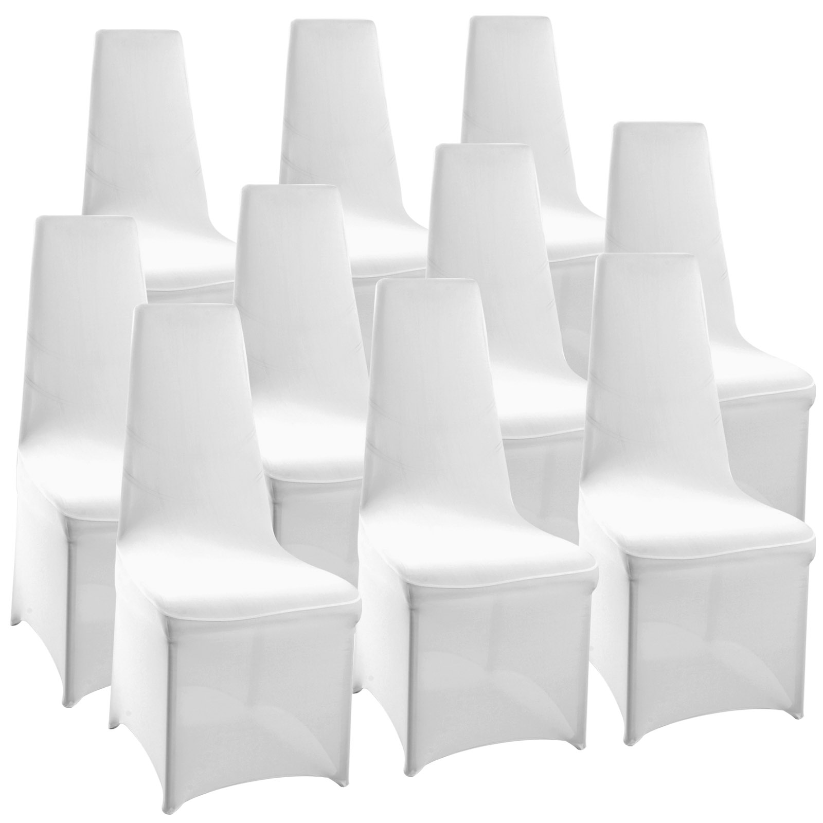 Pack of 10 Chair Covers Spandex Lycra Universal Slipcovers Dining