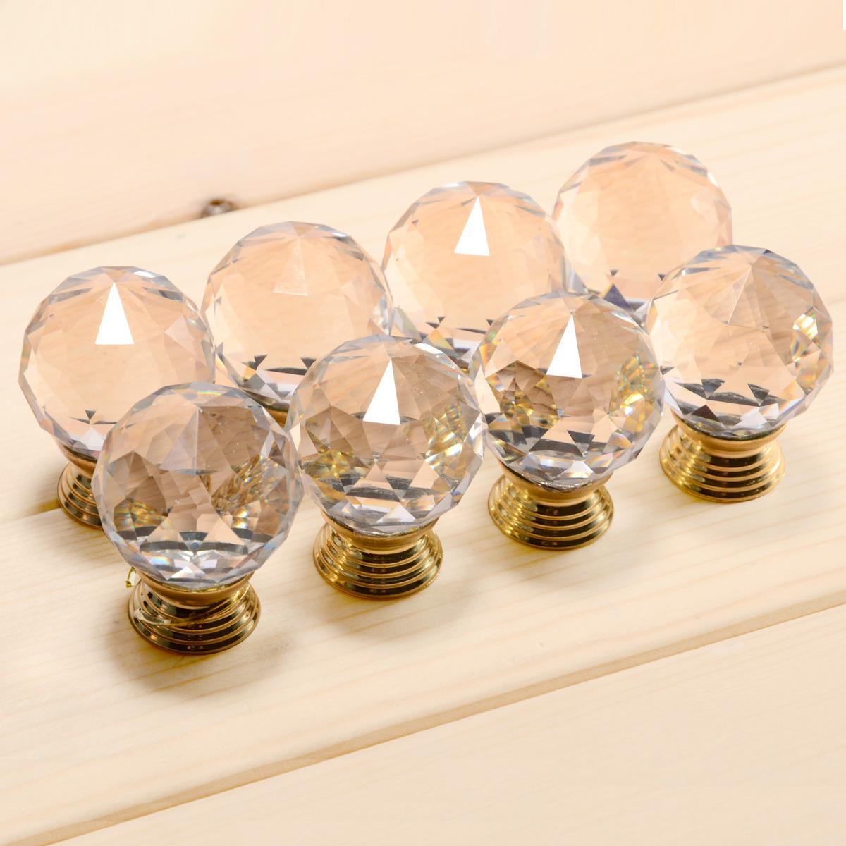 Set de 8pcs pomo de cristal manilla tiradores de mueble - Tiradores de cajones ...
