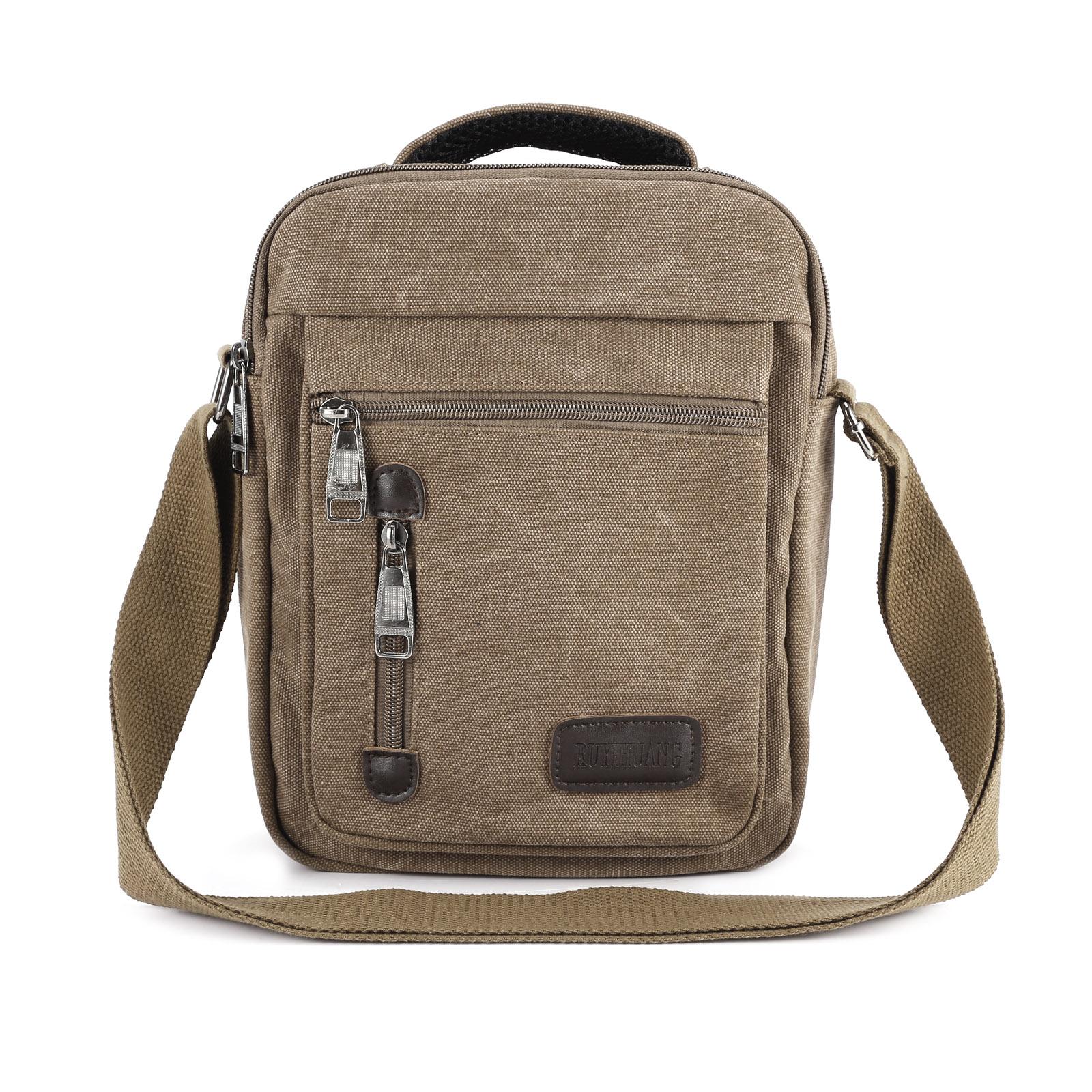 13056ca14519 Details about Men s Military Canvas Travel Hiking Satchel School Bag  Shoulder Messenger Bag