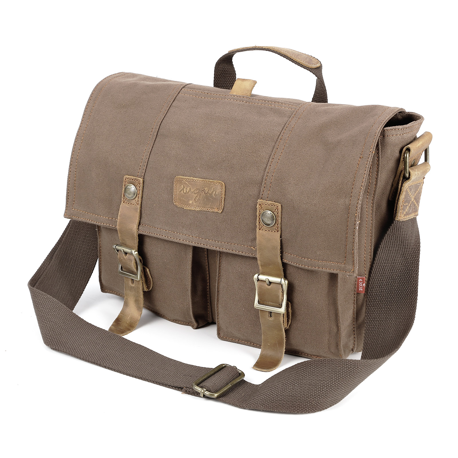 96a85582a39d Retro Mens Canvas Satchel Shoulder Messenger Military Bag Real ...