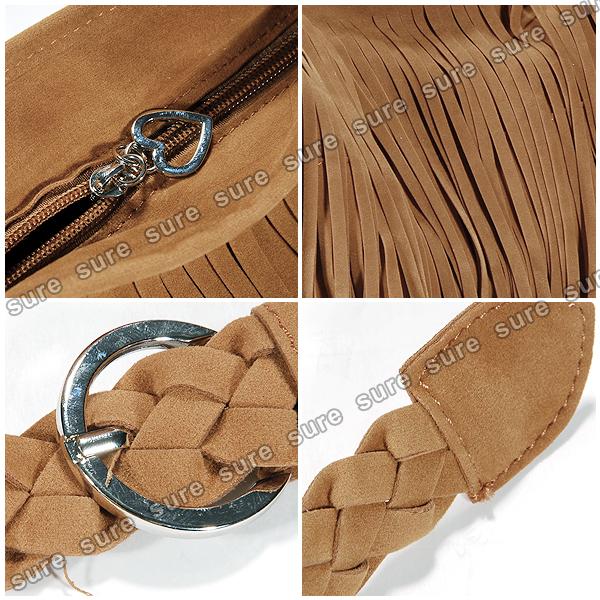 9381664ec71b Vintage Women s Faux Suede Fringe Tassels Crossbody Bag Shoulder Bag Cross  Body