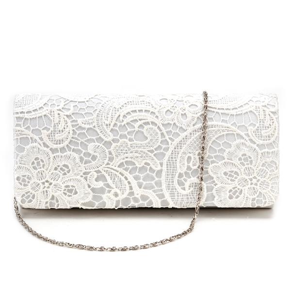 755ee69594f Black White Navy Blue Floral Lace Evening Party Clutch Bag Bridal Wedding  Purse   eBay